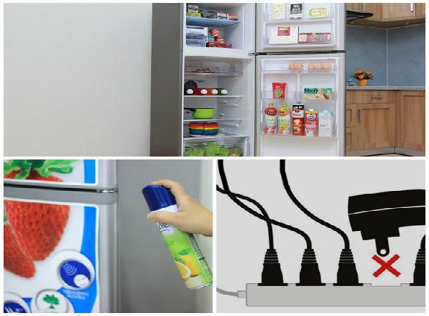 Cắm các thiết bị khác chung với ổ cắm tủ lạnh